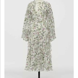 H&M Giambattista Valli white chiffon dress